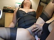 My wife fucking her plumper house maid
