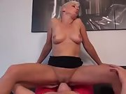 Horny mother in need of some loving gets her man up