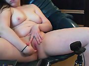 My gf snatch and tits on her web cam