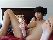 Jaw-dropping busty brown-haired sexy solo sextape part ii
